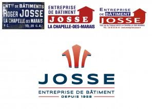 Evolution du logo de l'Entreprise de Bâtiment JOSSE