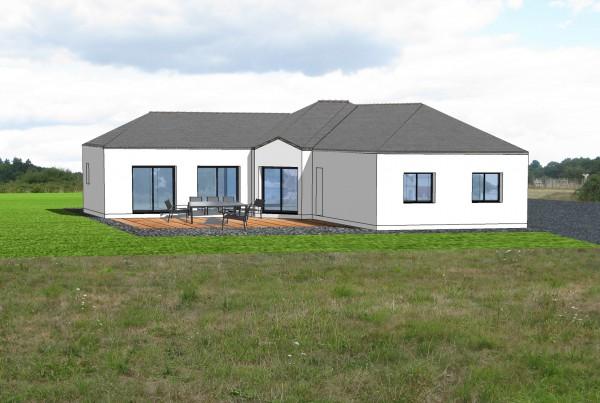 Construction d'une habitation principale sur la commune de Guenrouët en Loire-Atlantique